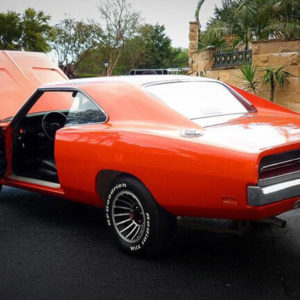 Rear of 1969 Dodge Charger General Lee car Brisbane