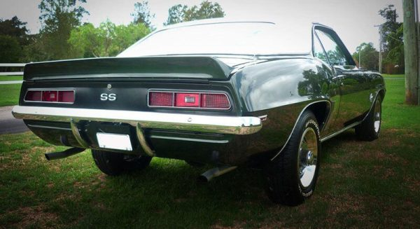 Rear of 1969 Chevrolet Camaro SS in Brisbane