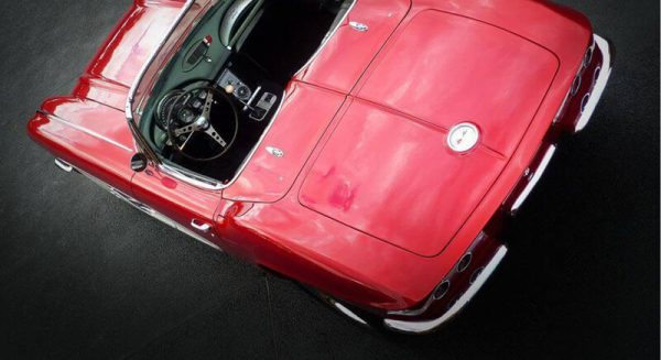Rear view of 1961 Chevrolet Corvette in Brisbane