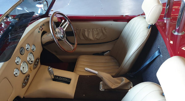 immaculate interior of 2004 model red ac cobra